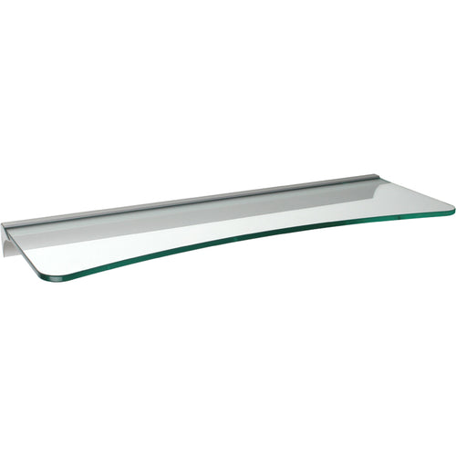 GLASSLINE Concave Rail Clear Glass Shelf Set - 24