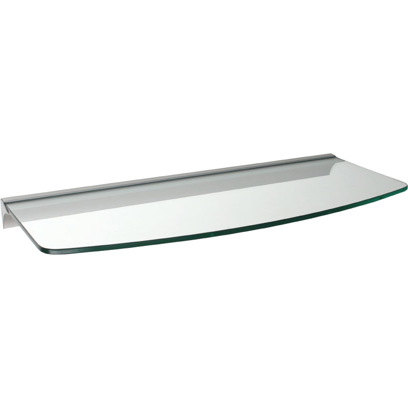 GLASSLINE/Rail Convex Clear Glass Shelf Set - 24