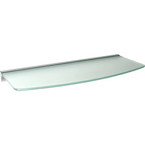 GLASSLINE Convex Rail Frosted Glass Shelf Set - 24""