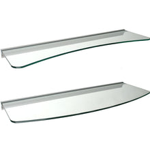 Load image into Gallery viewer, GLASSLINE/Rail Concave + Convex Glass Shelf Set - Clear