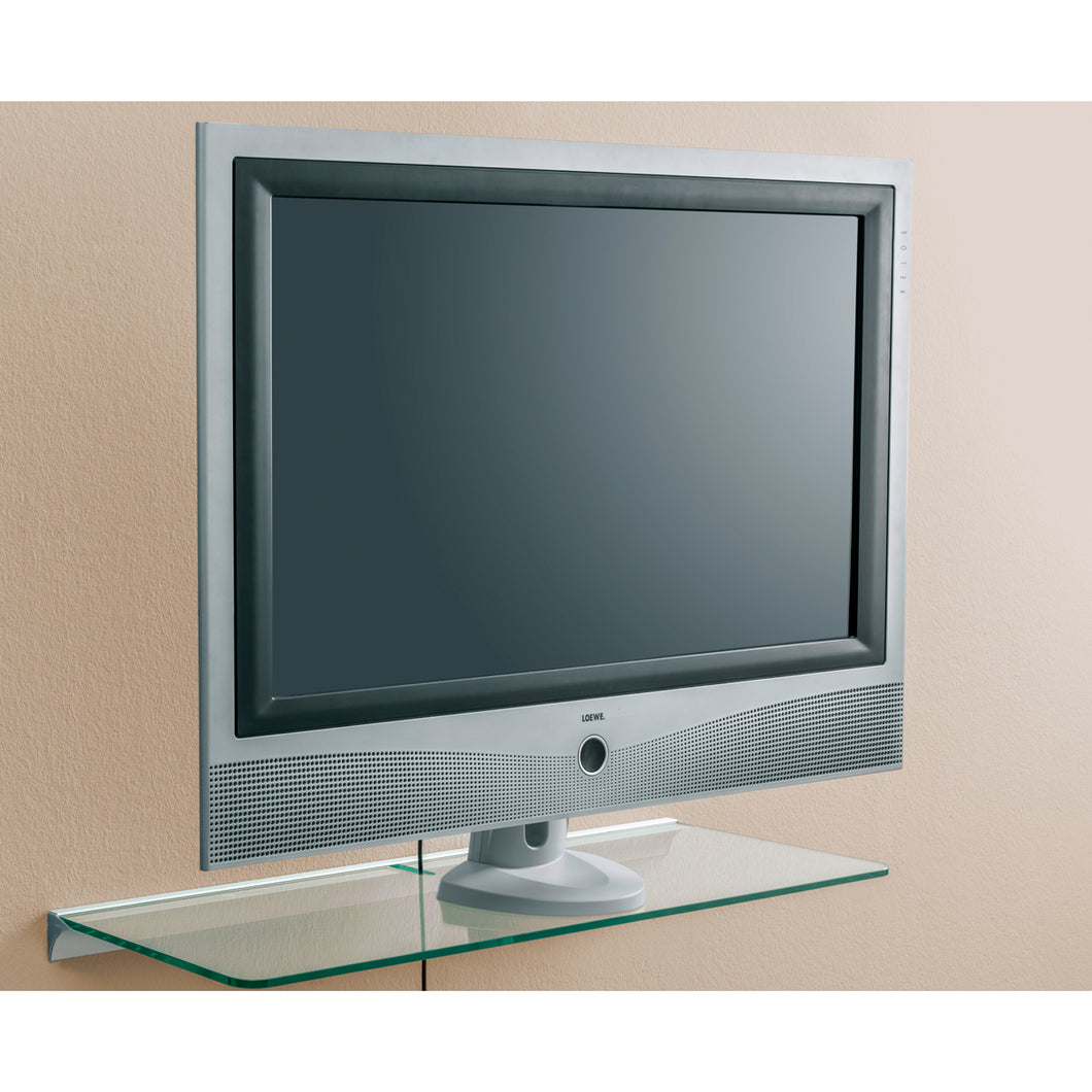 Dolle Glassline 32 in Glass Shelf with Media Slot