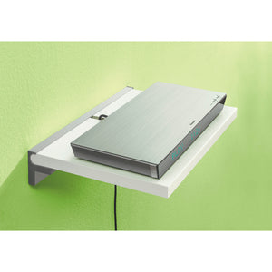 "Sumo 45"" White Wall Shelf Media Shelf + Cube Shelf Bracket Set"