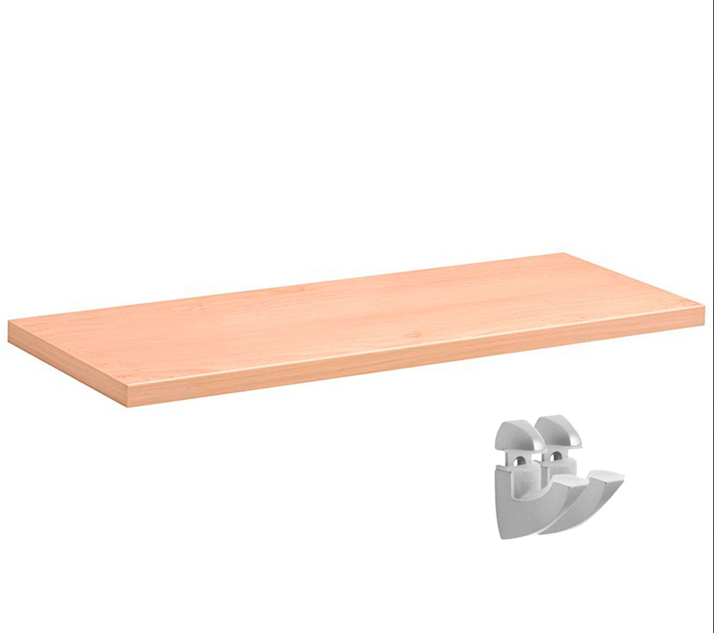 Dolle LITE Natural Shelf + Scoop Bracket Set - 31.5