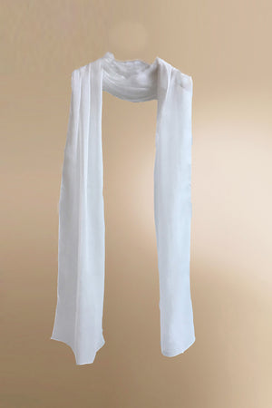 Women's White Silk Scarf | PENDA Women