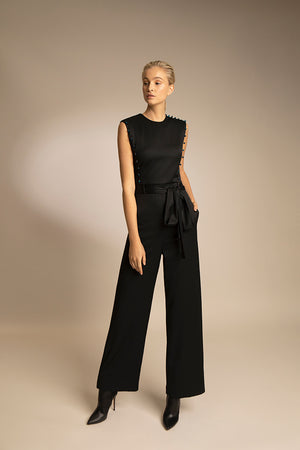 PENDA • Luxury Designer Fashion  • Sustainable Wool Jumpsuit • Front • SS20