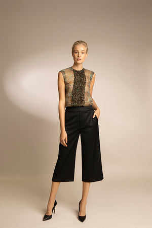 PENDA • Luxury Designer Fashion  • Sustainable Wool Pants • Front • SS20