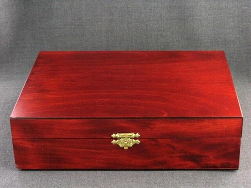 Wood Box 10x7x3 Cherry Finish