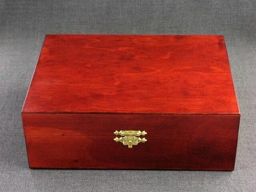 Wood Box 8x6x3 Cherry Finish
