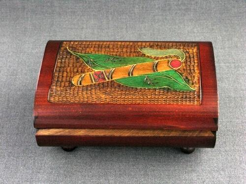 Wood Box 6.25x4.5x3 Sm Cigar Box