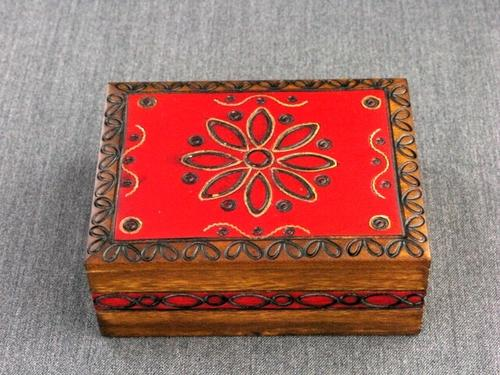 Wood Box 4x3x2 Geometric Box