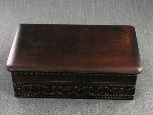 Wood Box 6.5 x 4.25 x 2 Walnut
