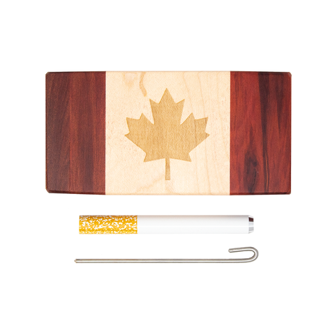 Futo Canada Flag Dugout - Large w/ Metal Bat