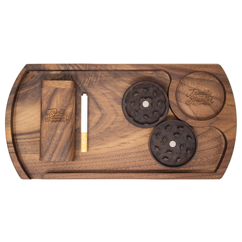 Friendly Stranger Wood Tray Set - Walnut