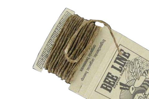 Bee Line Hemp Wick - Thin - 10 Foot Card