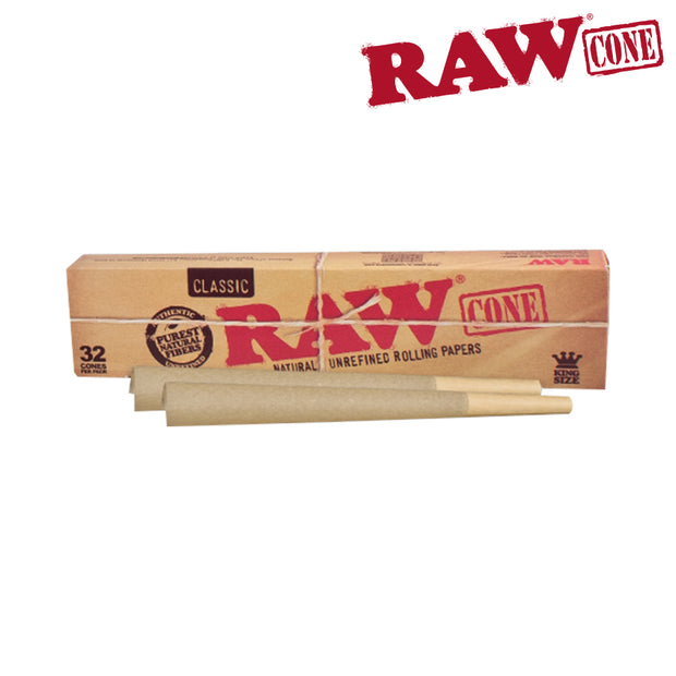 Raw Basics 32 Pack Cones - King