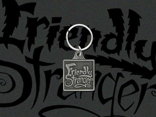 Friendly Stranger Metal Keychain
