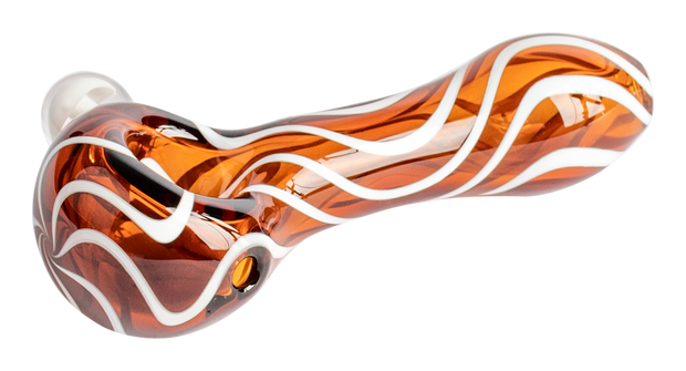 Red Eye Zebra Spoon Mushroom Marble - 4""