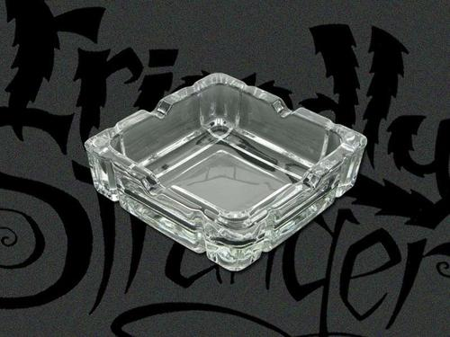 Square Crystal Ashtray