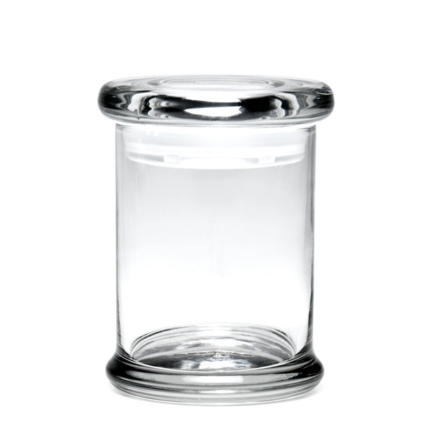 420 Science Medium Clear Pop Top Jar - Blank