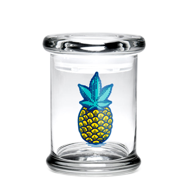 420 Science Medium Clear Pop Top Jar - Pineapple