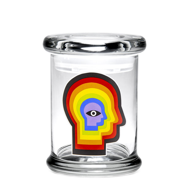 420 Science Medium Clear Pop Top Jar - Rainbow Mind