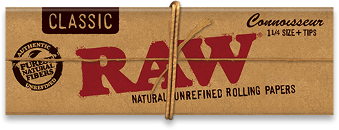 Raw Organic Connoisseur Pack + Tips - 1.25