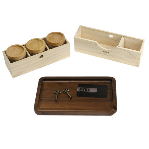 RYOT LOCK-R Box w/ 3 Jars & Tray
