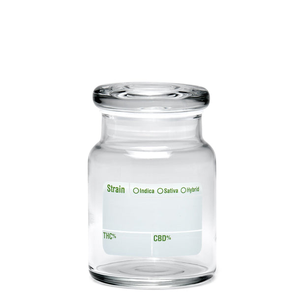 420 Science Small Clear Pop Top Jar - Write & Erase