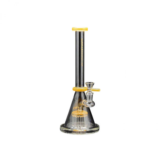 "GEAR Premium Yellow - 11.5"" Tall Europa Beaker Tube W/8 Arm Tree Perc"