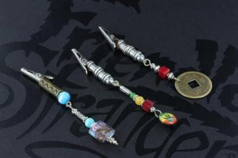 Handmade Clips with beads-pendant