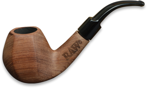 Raw Natural Rosewood Pipe