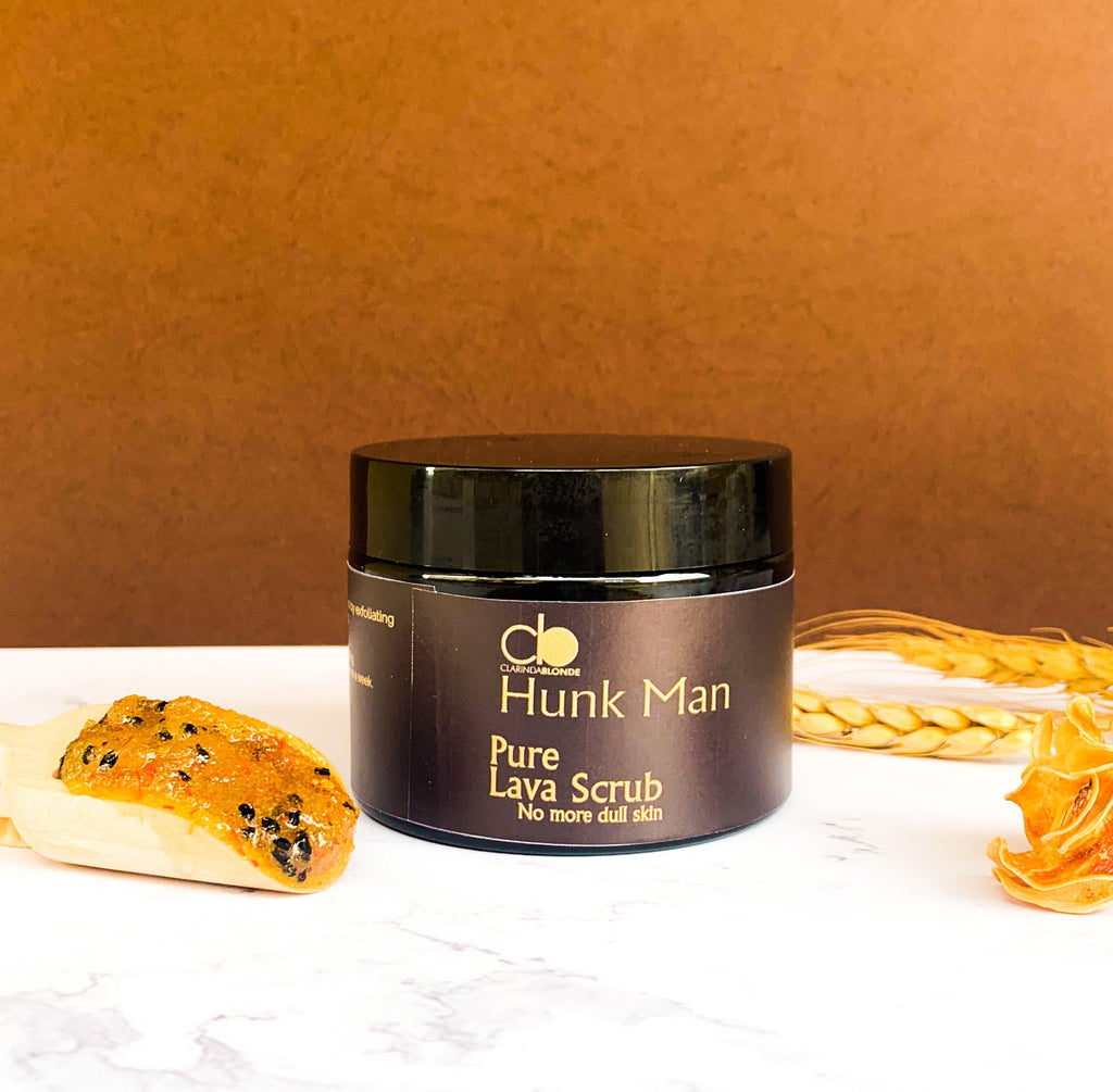 HUNK MAN PURE LAVA SCRUB - Shop Human hair wigs, Skin care & 3D eye-lenses/Eyelashes online!