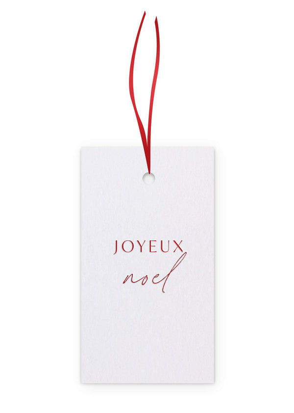 Letterpress Christmas Gift Tags - Pack of 6 assorted