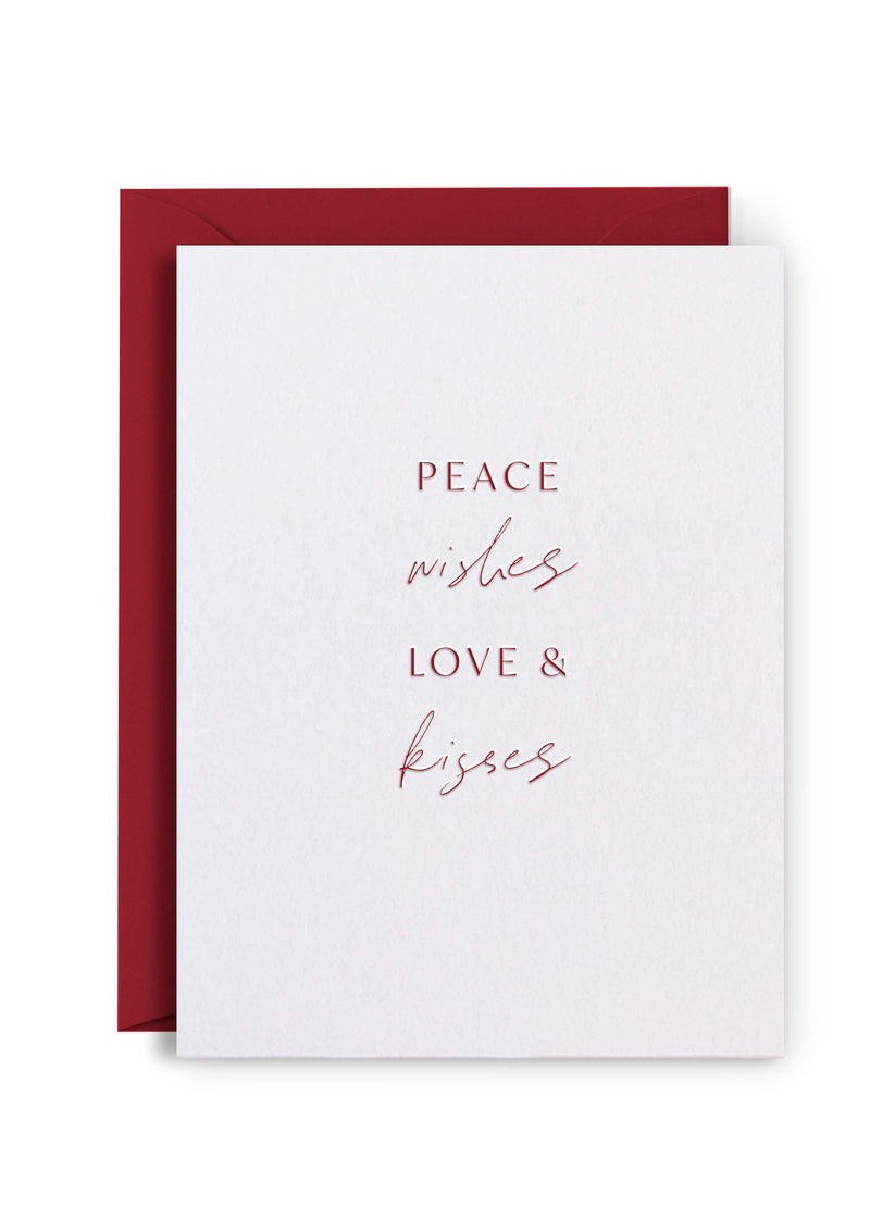 Letterpress Christmas Cards - Pack of 6 assorted
