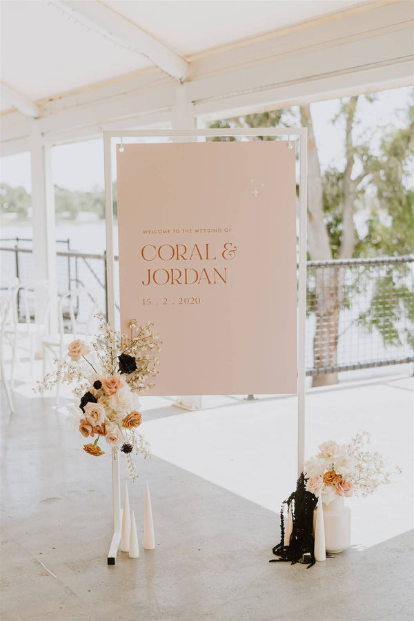 Coral Welcome Sign