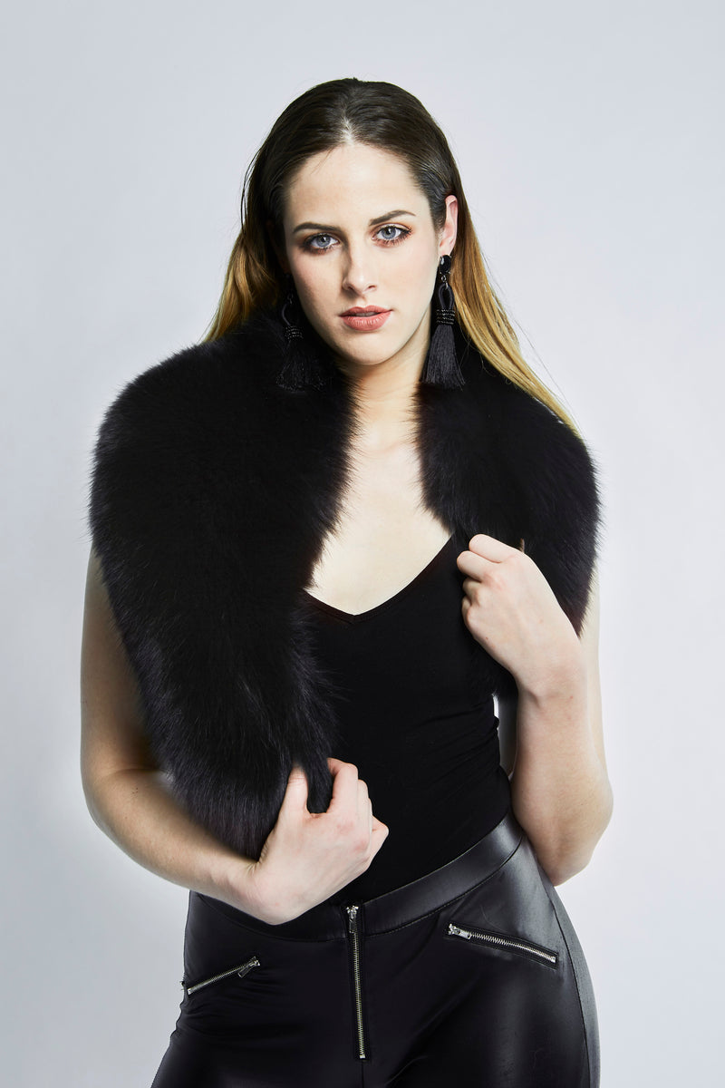 Black Fur Collar