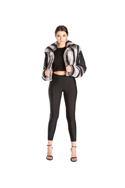 Monochrome Cropped Jacket