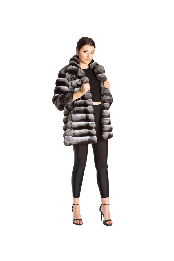 Monochrome Bubble Coat
