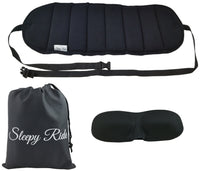 Sleepy Ride - Airplane Travel Footrest Made with Premium Memory Foam & Sleep Mask
