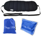 Sleepy Ride - Airplane Travel Footrest Made with Premium Memory Foam & Sleep Mask - Blue