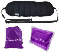 Sleepy Ride - Airplane Travel Footrest Made with Premium Memory Foam & Sleep Mask - Purple