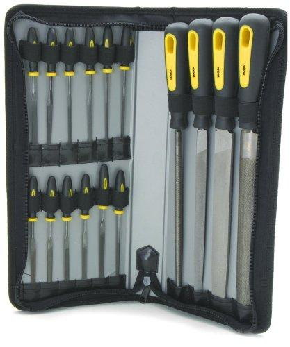 File Set in Zipper Pouch For Wood and Metal 16pc Rolson 24779