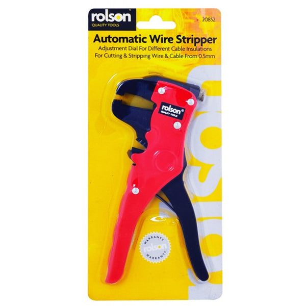 Wire Cable Cutter Automatic Stripper Crimping Crimper Plier Rolson 20852