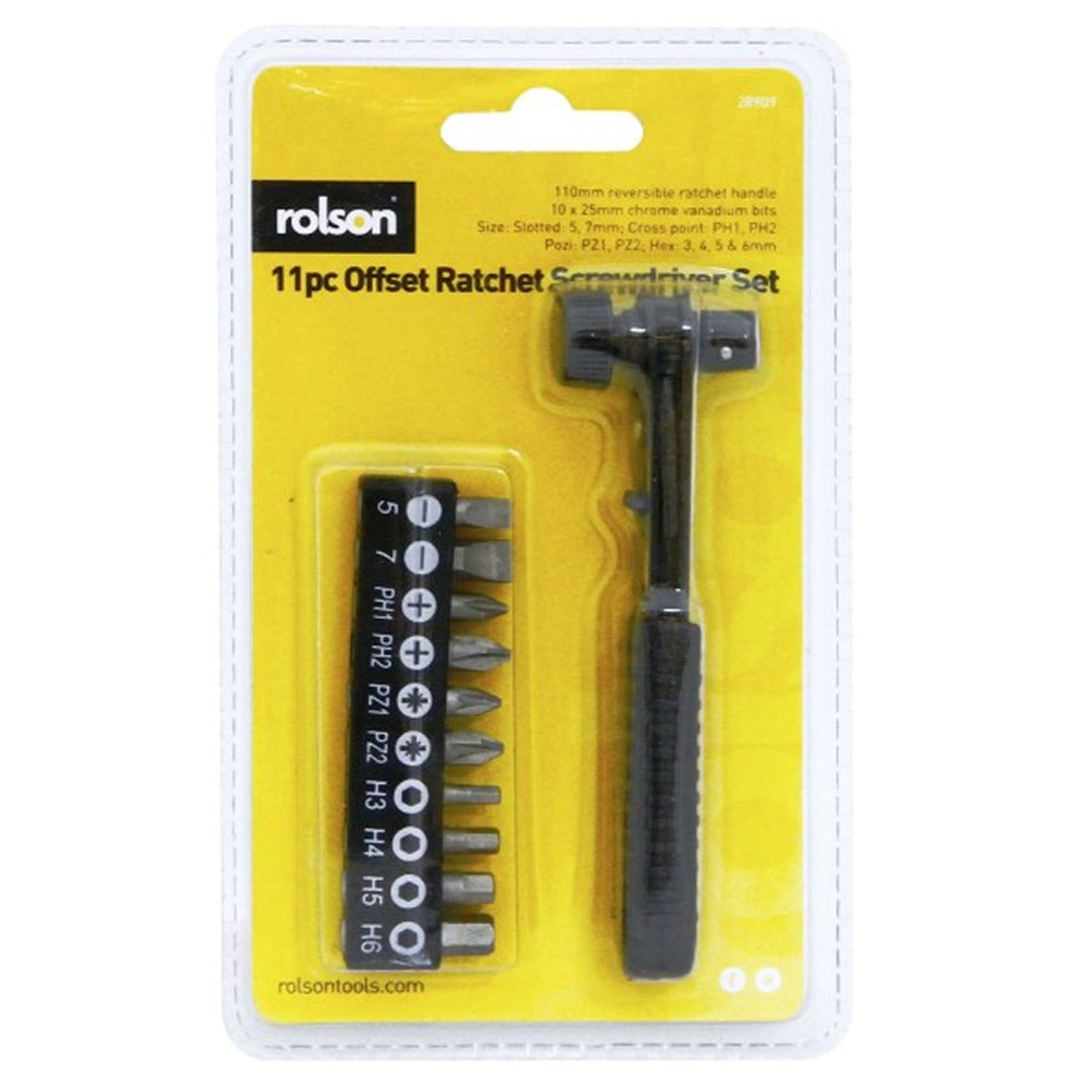 10 Batches Right Angled Offset Ratchet Screwdriver Set Torx Rolson an L Wrench