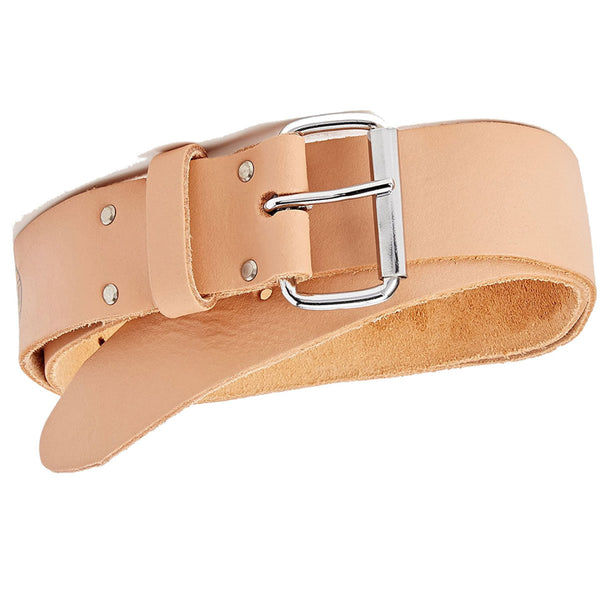 Scaffold Work Belt 50mm (2'') Width Tan Leather 34'' - 44'' Faithfull FAILB134