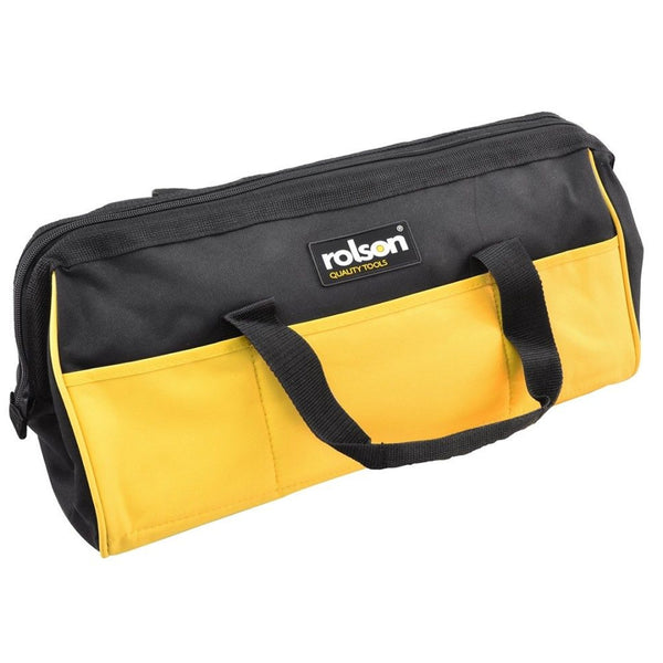 Tool Bag 13 Pocket 455mm Long Builder Contractor Tool Carry Case Rolson 68283