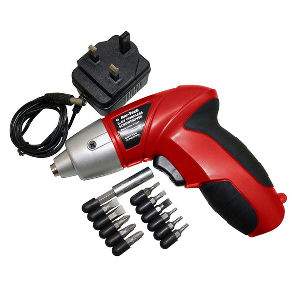 3.6V Cordless Rechargeable Screwdriver + Accessories And Charger Amtech V2565