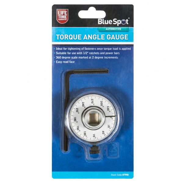 Pro Trade 1/2'' Drive Angular Torque Angle Gauge Wrench Garage Bluespot 07940