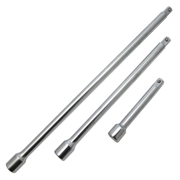 3/8'' Drive Extension Bar Set 3Pc Heat Treated  Length 3'' 6'' 9'' Amtech I3800