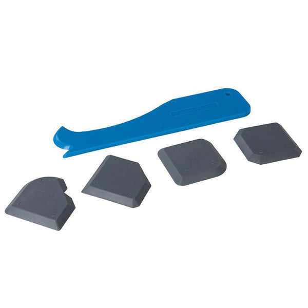 Sealant Smoothing Sink Silicone Grout Spreader Shower 5pc Kit Silverline 343837